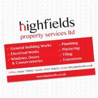 Highfields Property Services Ltd - Site Boards